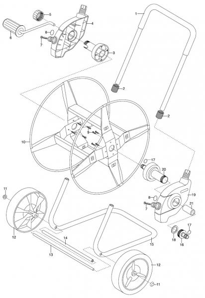 GARDENA Ersatzteile Metall-Schlauchwagen 60 2681