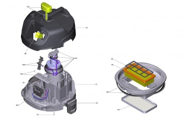 Ersatzteile Kärcher Trockensauger Geräteteile AD 2 Battery  1.348-300.0