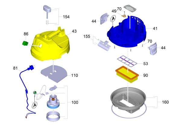 Ersatzteile Kärcher Trockensauger Geräteteile AD 2 -II 1.629-711.0