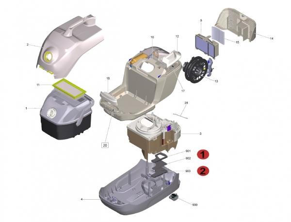 Ersatzteile Kärcher Trockensauger Geräteteile DS 6  1.195-220.0