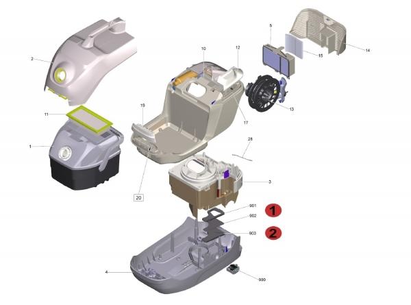 Ersatzteile Kärcher Trockensauger Geräteteile DS 6 Premium (white) 1.195-240.0