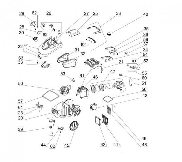 Ersatzteile Kärcher Trockensauger Geräteteile VC 2 Premium (ERP) (white) -I 1.198-115.0
