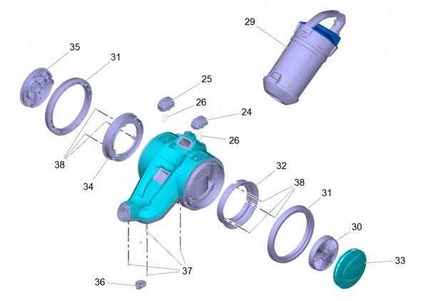 Ersatzteile Kärcher Trockensauger Geräteteile VC 3 (ERP) -I 1.198-125.0
