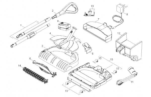 Ersatzteile Kärcher elektr. Kehrmaschinen Geraet Einzelteile K 55 *EU 1.258-501.0