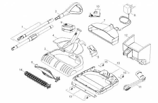 Ersatzteile Kärcher elektr. Kehrmaschinen Geraet Einzelteile K 55 PLUS Ni-Mh *EU 1.258-509.0