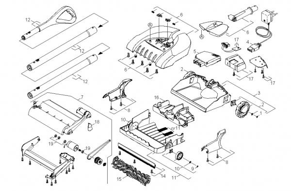 Ersatzteile Kärcher elektr. Kehrmaschinen Einzelteile K 85 *EU 1.258-901.0