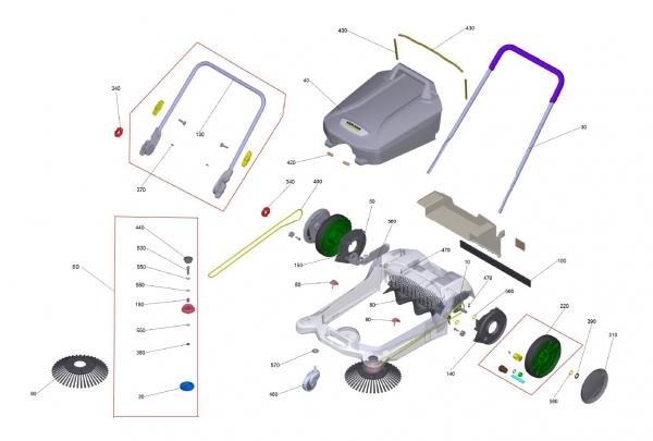 Ersatzteile Kärcher handbetr. Kehrmaschinen Ersatzteile S 4 Twin 1.766-360.0