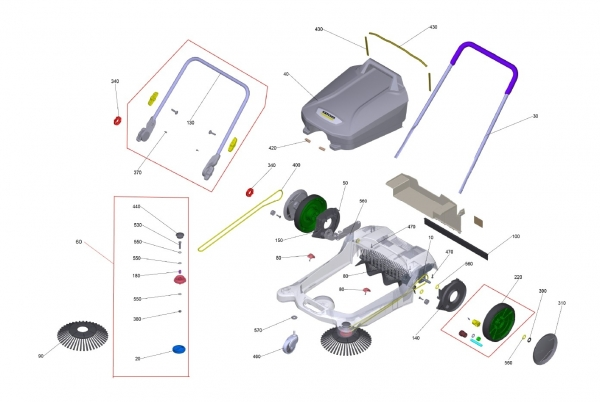 Ersatzteile Kärcher handbetr. Kehrmaschinen Ersatzteile S 4 Twin 2in1 1.766-365.0