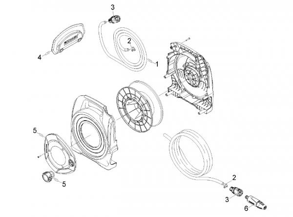 Ersatzteile Kärcher Bewässerungssysteme Einzelteile Compact Reel CR 3.110 Balcony 2.645-210.0