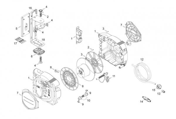 Ersatzteile Kärcher Bewässerungssysteme Einzelteile Compact Reel CR 7.220 Automatic 2.645-218.0