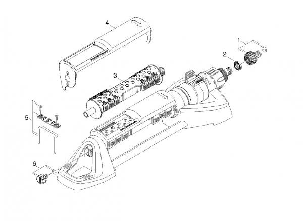 Ersatzteile Kärcher Bewässerungssysteme Einzelteile Rechteckregner OS 5.320 S 2.645-134.0