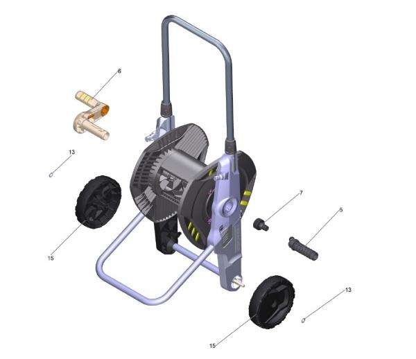 Ersatzteile Kärcher Bewässerungssysteme Einzelteile Schlauchwagen HT 3.420 Kit 1/2 Pallet 2.645-172.0