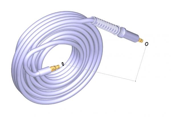 Ersatzteile Kärcher Hochdruckreiniger Zubehör  HD-Schlauch 18MPa/12 60°C QC B HD-Schlauch 18MPa/12 60°C QC B 6.396-555.0