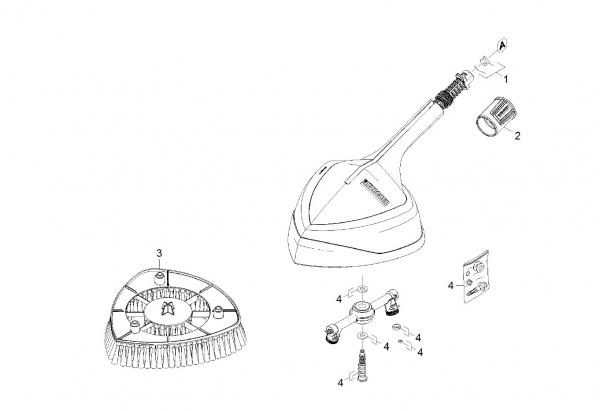 Ersatzteile Kärcher Hochdruckreiniger Zubehör  Flaechenreiniger Power Brush 2.641-812.0