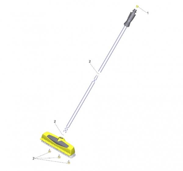 Ersatzteile Kärcher Hochdruckreiniger Zubehör  Powerschrubber  PS 40 Powerschrubber 2.642-171.0