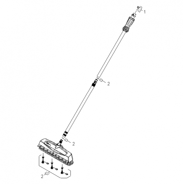 Ersatzteile Kärcher Hochdruckreiniger Zubehör  Schrubbuerste PS 40 Powerschrubber Gerätebeilage 2.642-776.0