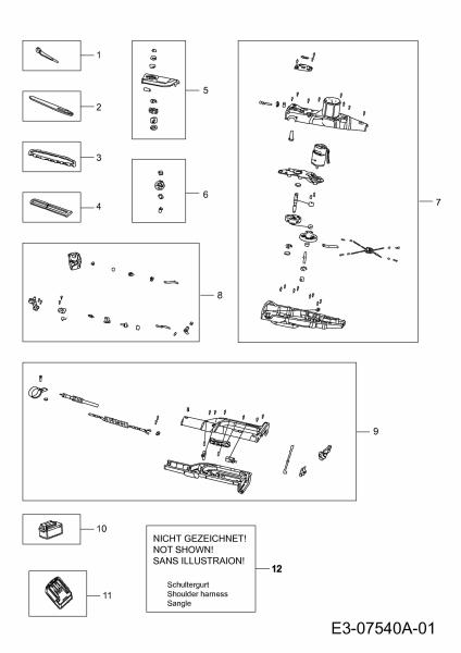 Ersatzteile Wolf-Garten Akku Kettensäge Li-Ion Power PSA 700 Typ: 41AI05-M650  (2012) Grundgerät