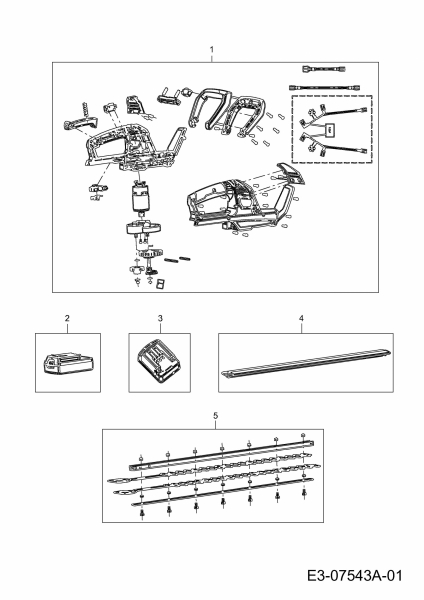 Ersatzteile Wolf-Garten Akku Heckenschere Li-Ion Power HTA 700 Typ: 41AG0H-L650  (2019) Grundgerät