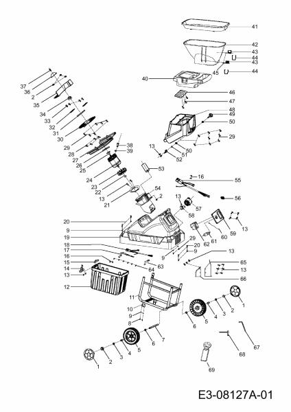 Ersatzteile Wolf-Garten Häcksler SDE 2800 EVO Typ: 24AC7B1C650  (2013) Grundgerät