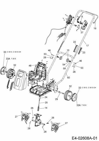 Ersatzteile Wolf-Garten Motorhacke C 30 E Typ: 21A-106BC50  (2014) Grundgerät