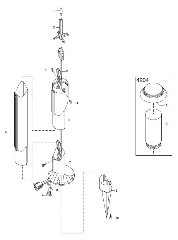 gardena ersatzteile lightline pilzleuchte 4204 online kaufen ersatzteil fee. Black Bedroom Furniture Sets. Home Design Ideas