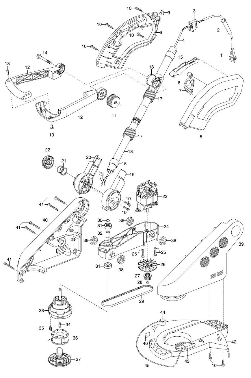 ersatzteile gardena turbotrimmer powercut 2404 ersatzteil fee. Black Bedroom Furniture Sets. Home Design Ideas