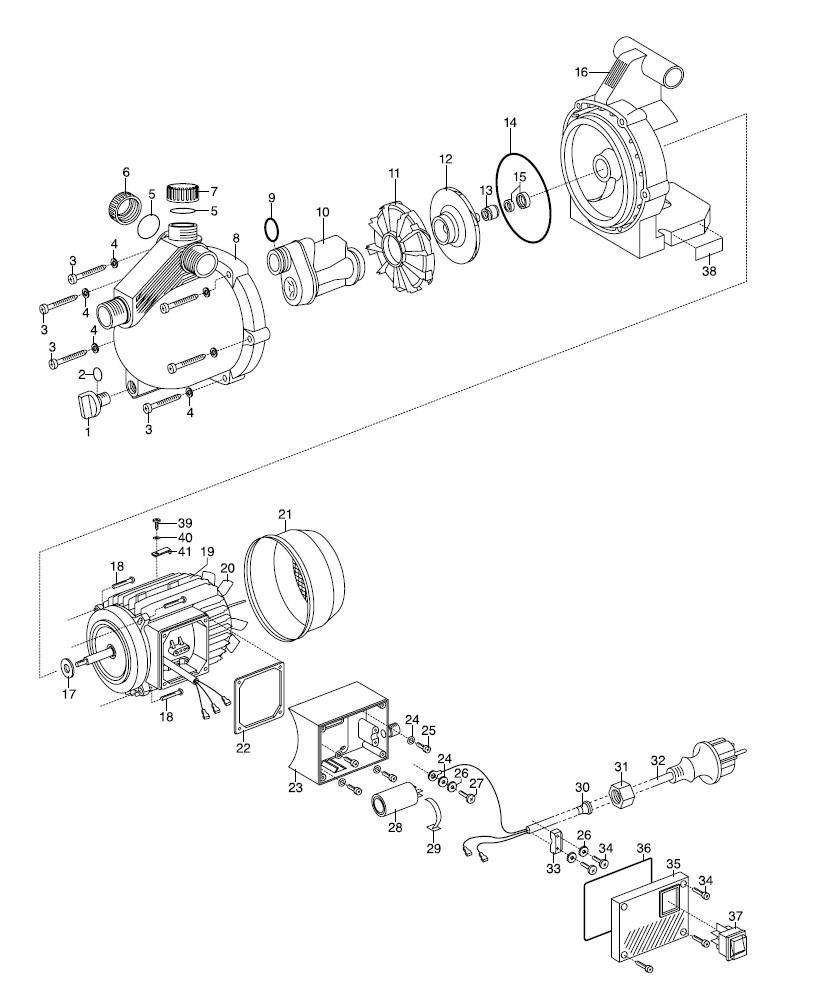 ersatzteile gardena gartenpumpe 3000 4 jet 1422. Black Bedroom Furniture Sets. Home Design Ideas
