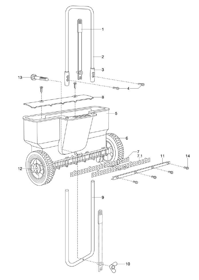 gardena ersatzteile streuwagen 410. Black Bedroom Furniture Sets. Home Design Ideas