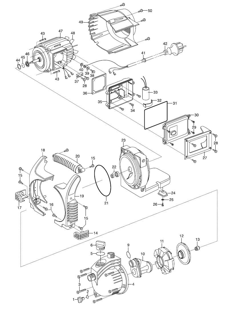 ersatzteile gardena classic gartenpumpe 3500 4 1709. Black Bedroom Furniture Sets. Home Design Ideas