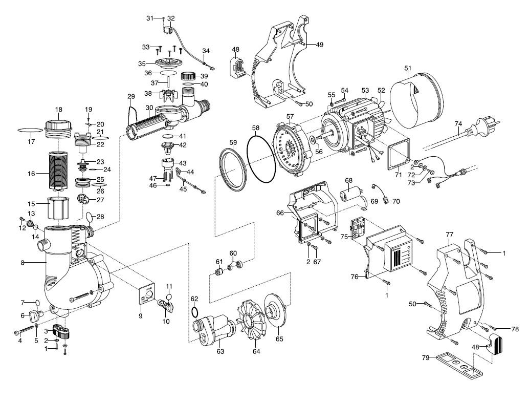 ersatzteile gardena hauswasserautomat 4000 4i ep 1481 bj. Black Bedroom Furniture Sets. Home Design Ideas