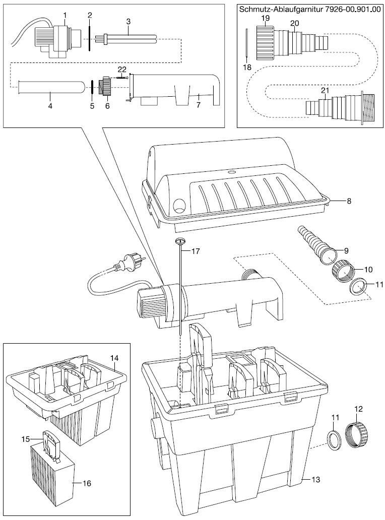 gardena ersatzteile uvc teichfilter f 12000 7900 f 16000. Black Bedroom Furniture Sets. Home Design Ideas