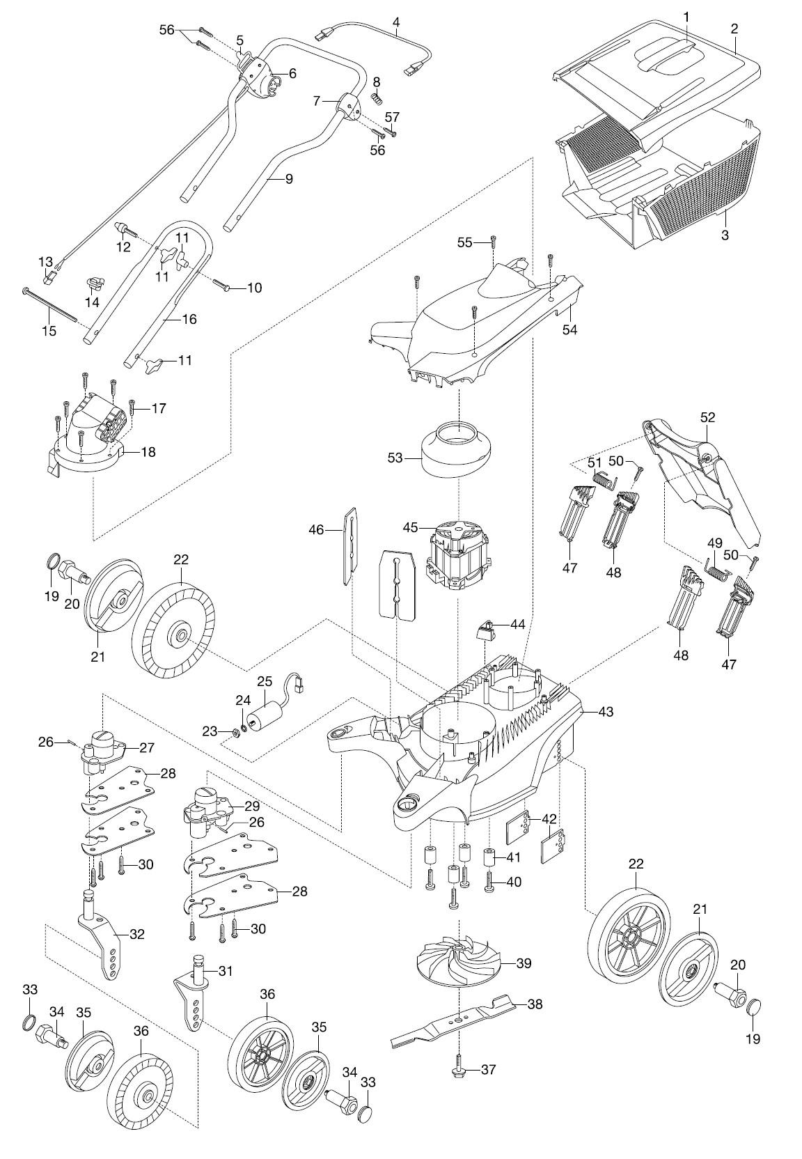 gardena ersatzteile rasenm her 34 e basicmove 4032. Black Bedroom Furniture Sets. Home Design Ideas