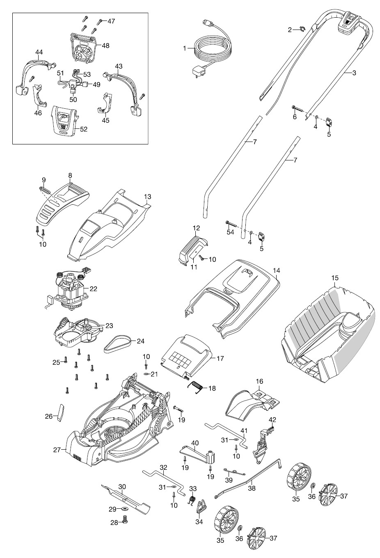 gardena ersatzteile rasenm her powermax 32 e 4033. Black Bedroom Furniture Sets. Home Design Ideas