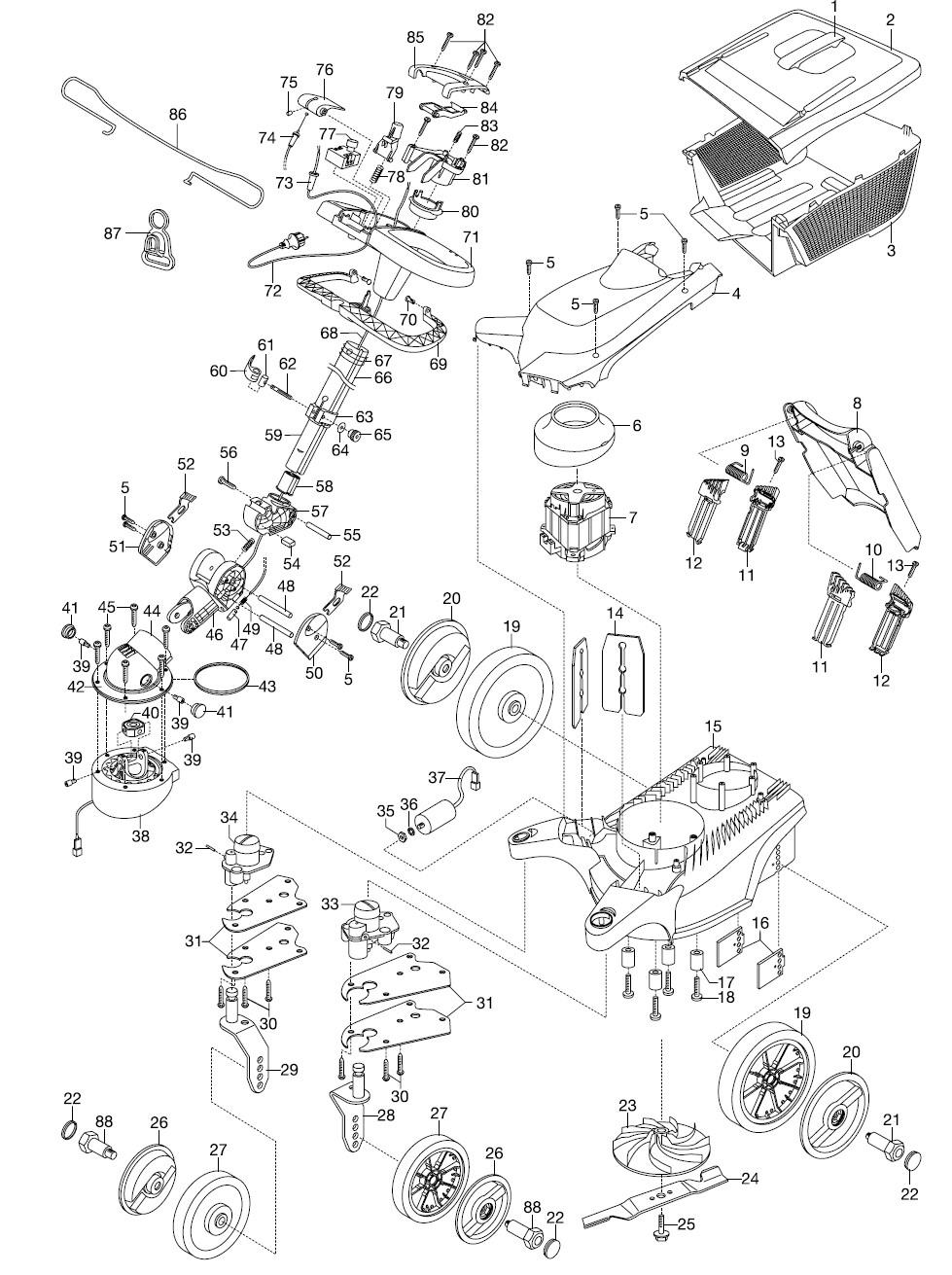 gardena ersatzteile rasenm her lenkm her 34 e 4034. Black Bedroom Furniture Sets. Home Design Ideas