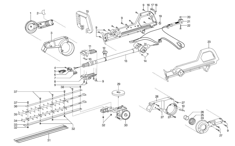 ersatzteile gardena v12 teleskop heckenschere ths 42 2264. Black Bedroom Furniture Sets. Home Design Ideas