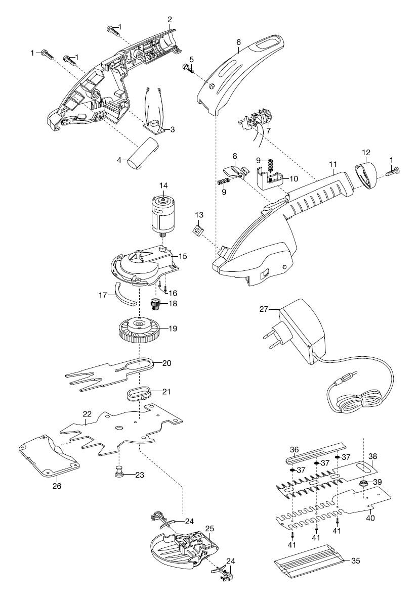 ersatzteile gardena accu buchsschneider contour cut 8829 8819 ersatzteil fee. Black Bedroom Furniture Sets. Home Design Ideas