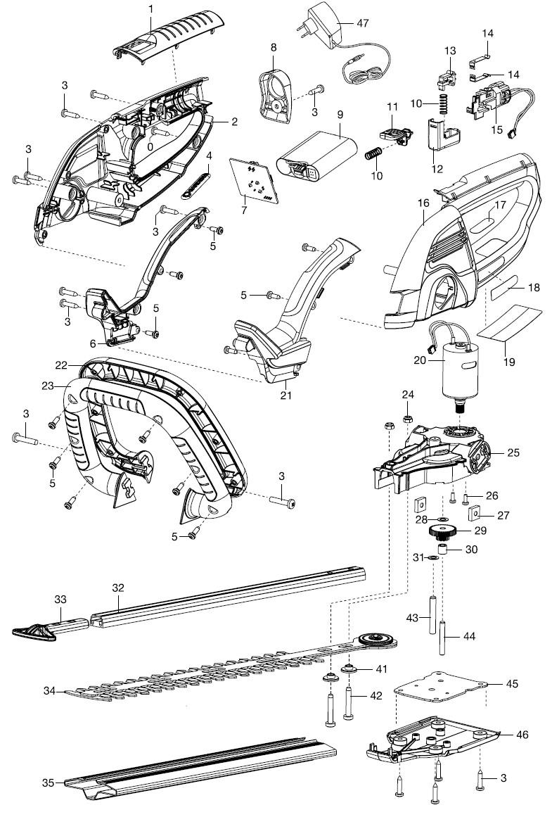 ersatzteile gardena accu strauchschere comfortcut 30 8898 ersatzteil fee. Black Bedroom Furniture Sets. Home Design Ideas