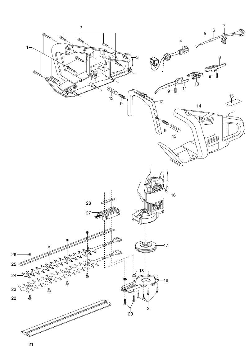 ersatzteile gardena elektro heckenschere eht 410 2591. Black Bedroom Furniture Sets. Home Design Ideas