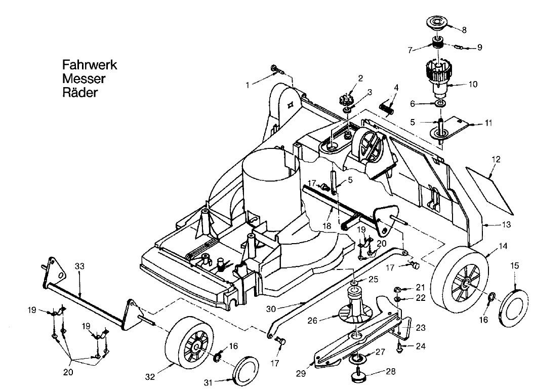 gardena ersatzteile hattrick he 36 4000 fahrwerk messer. Black Bedroom Furniture Sets. Home Design Ideas