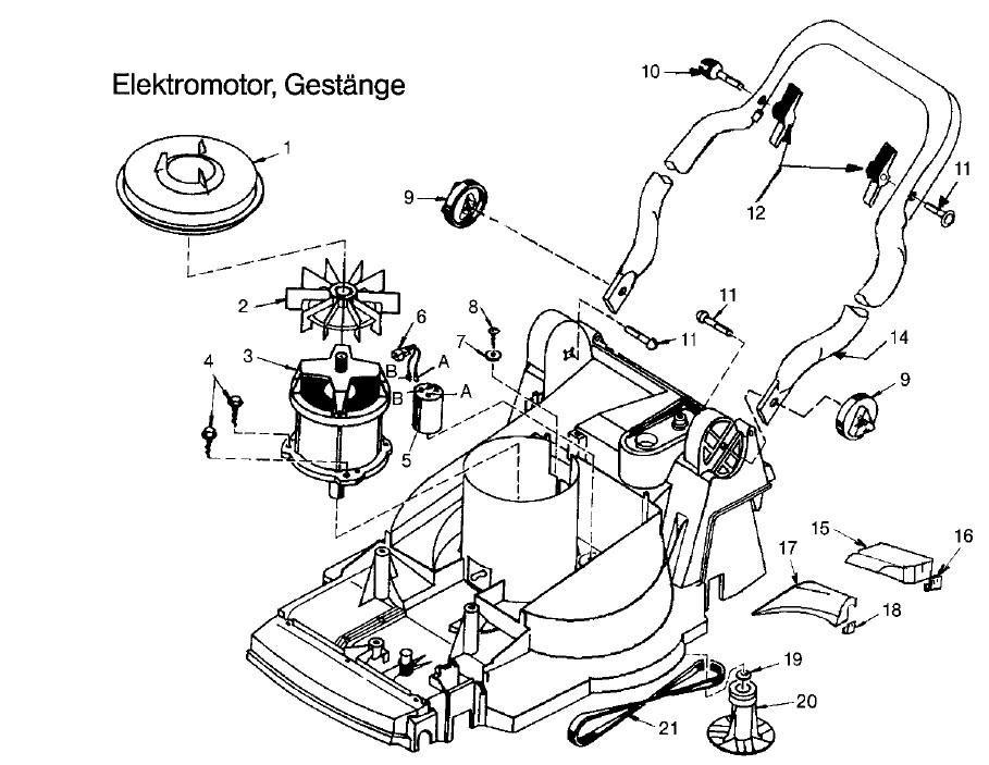 gardena ersatzteile hattrick he 36 4000 motor gest nge. Black Bedroom Furniture Sets. Home Design Ideas