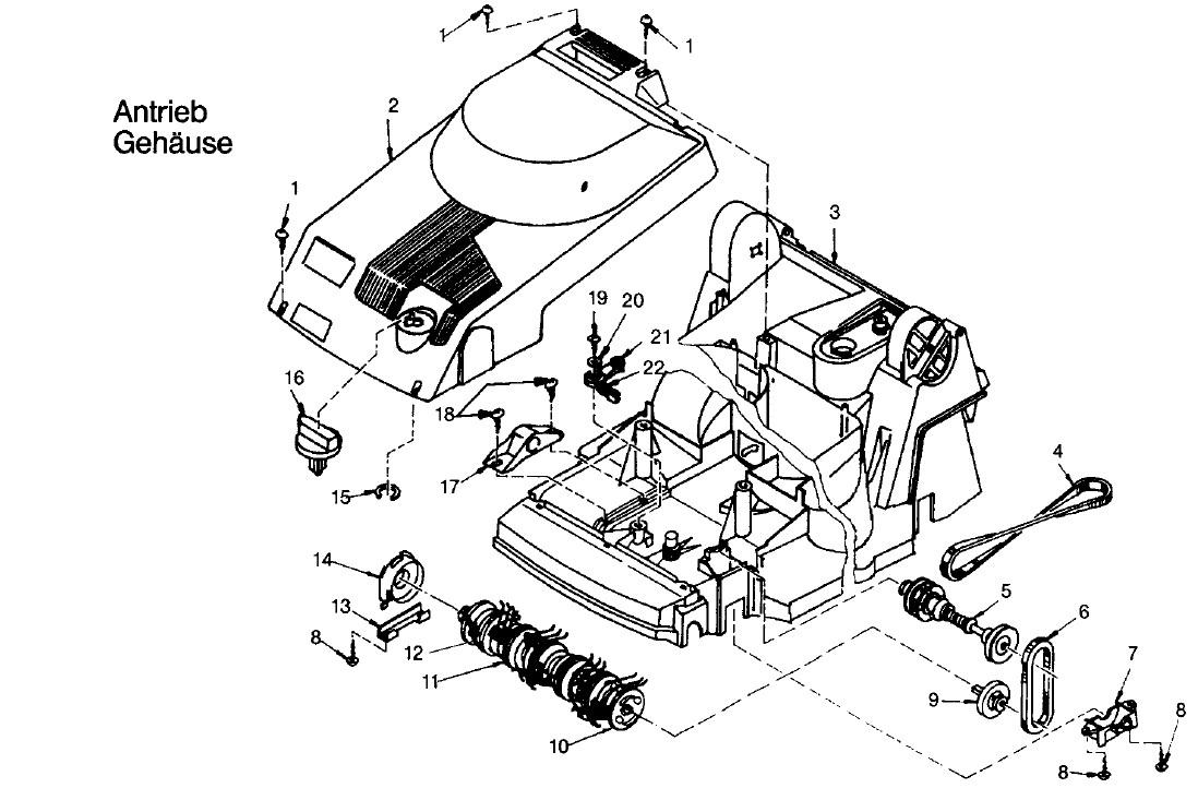 gardena ersatzteile hattrick he 36 4000 antrieb geh use. Black Bedroom Furniture Sets. Home Design Ideas