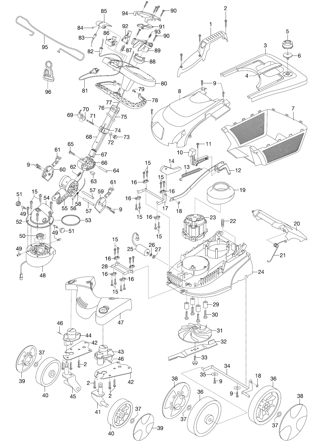 gardena ersatzteile rasenm her lenkm her 38 e 4038. Black Bedroom Furniture Sets. Home Design Ideas