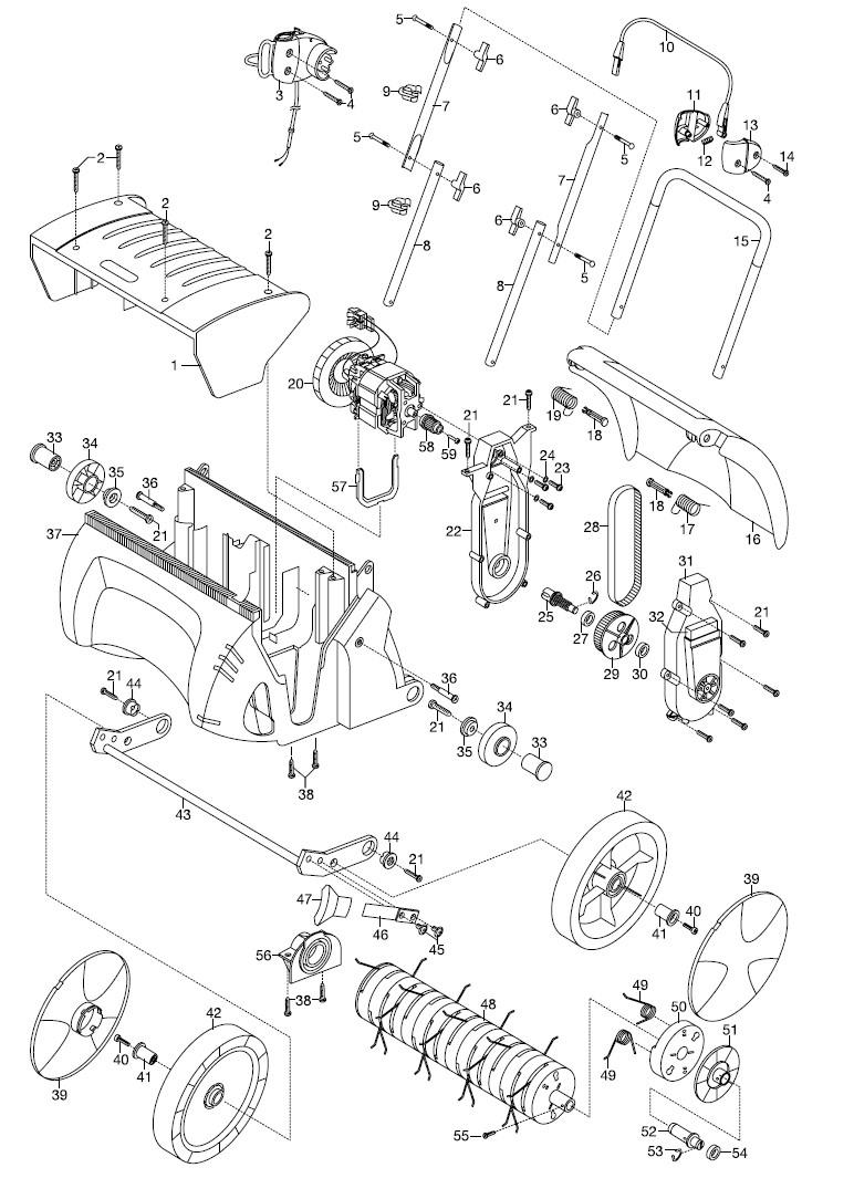 gardena ersatzteile elektro rasenl fter es 500 406 ersatzteil fee. Black Bedroom Furniture Sets. Home Design Ideas