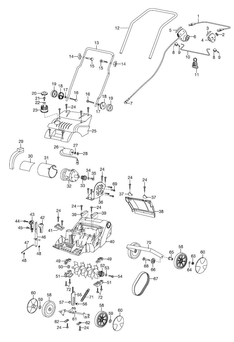 gardena ersatzteile elektro vertikutierer evc 1300. Black Bedroom Furniture Sets. Home Design Ideas