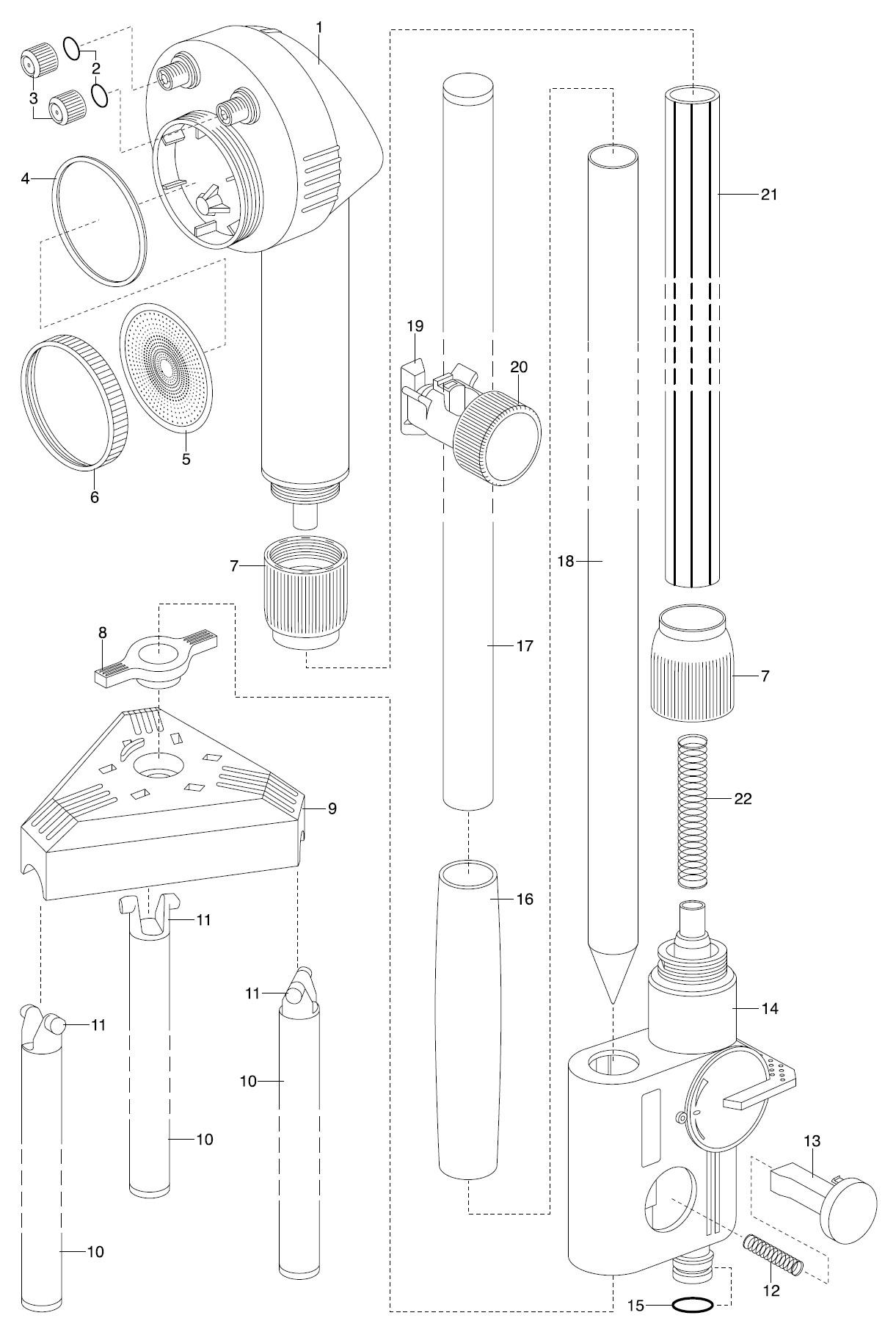 ersatzteile gardena gartendusche trio 960 ersatzteil fee. Black Bedroom Furniture Sets. Home Design Ideas