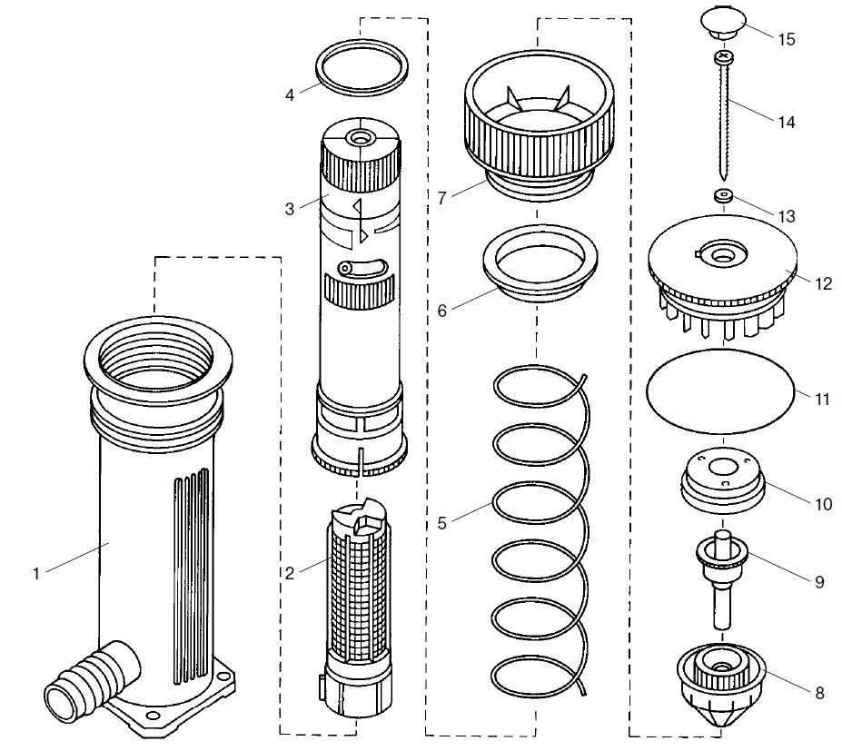 ersatzteile gardena turbinen versenkregner 150 1544 ersatzteil fee. Black Bedroom Furniture Sets. Home Design Ideas