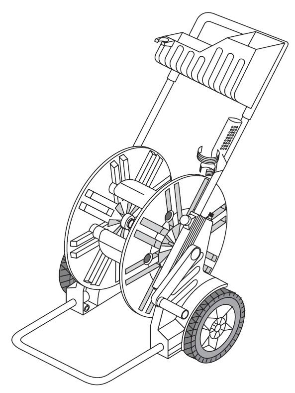 gardena ersatzteile schlauchwagen 60 ts mit ablage 2623. Black Bedroom Furniture Sets. Home Design Ideas