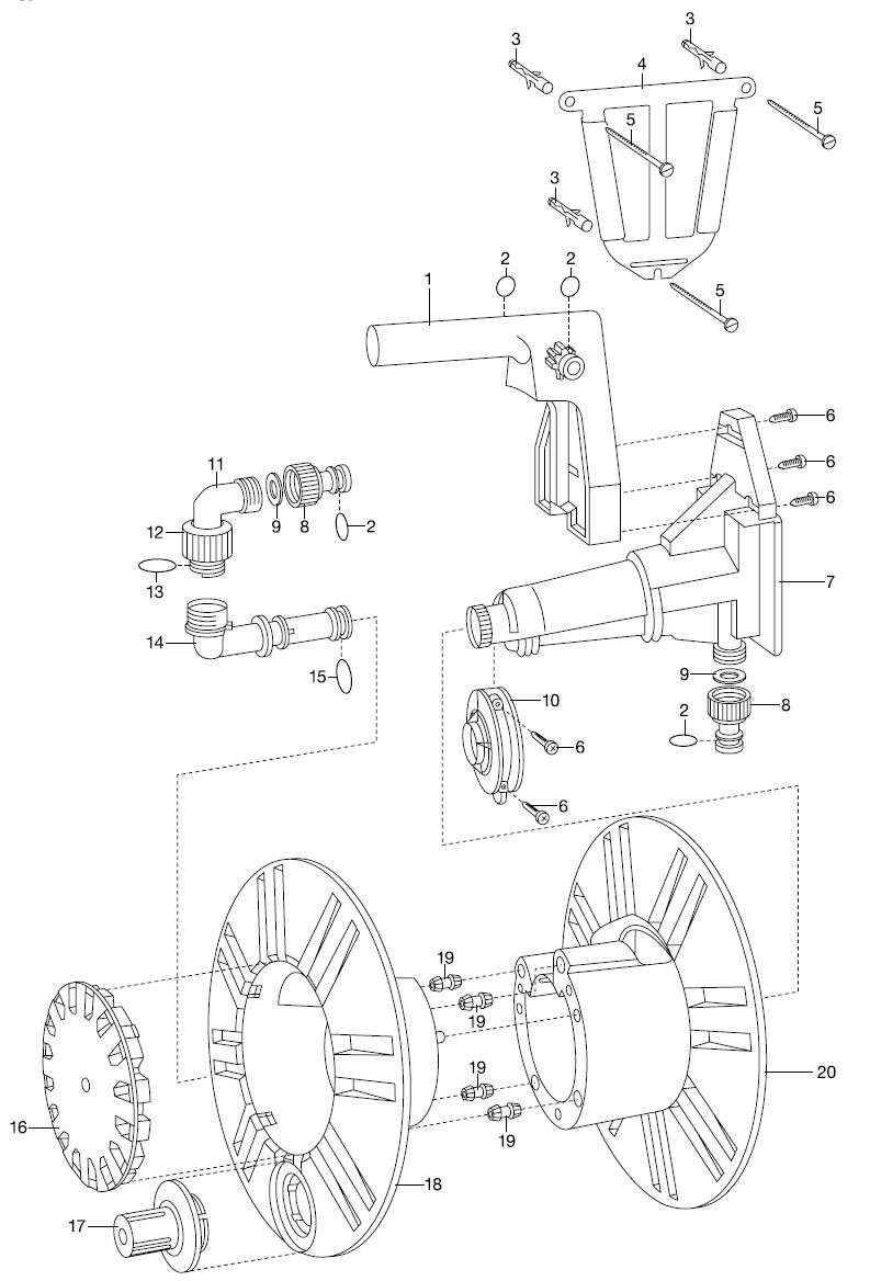 gardena ersatzteile wandschlauchtr ger 2650 ersatzteil fee. Black Bedroom Furniture Sets. Home Design Ideas