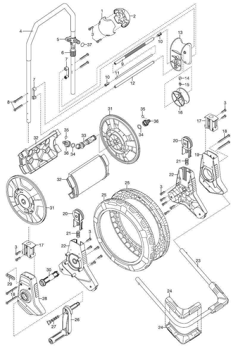 gardena ersatzteile comfort schlauchwagen easyroll 2683 ersatzteil fee. Black Bedroom Furniture Sets. Home Design Ideas