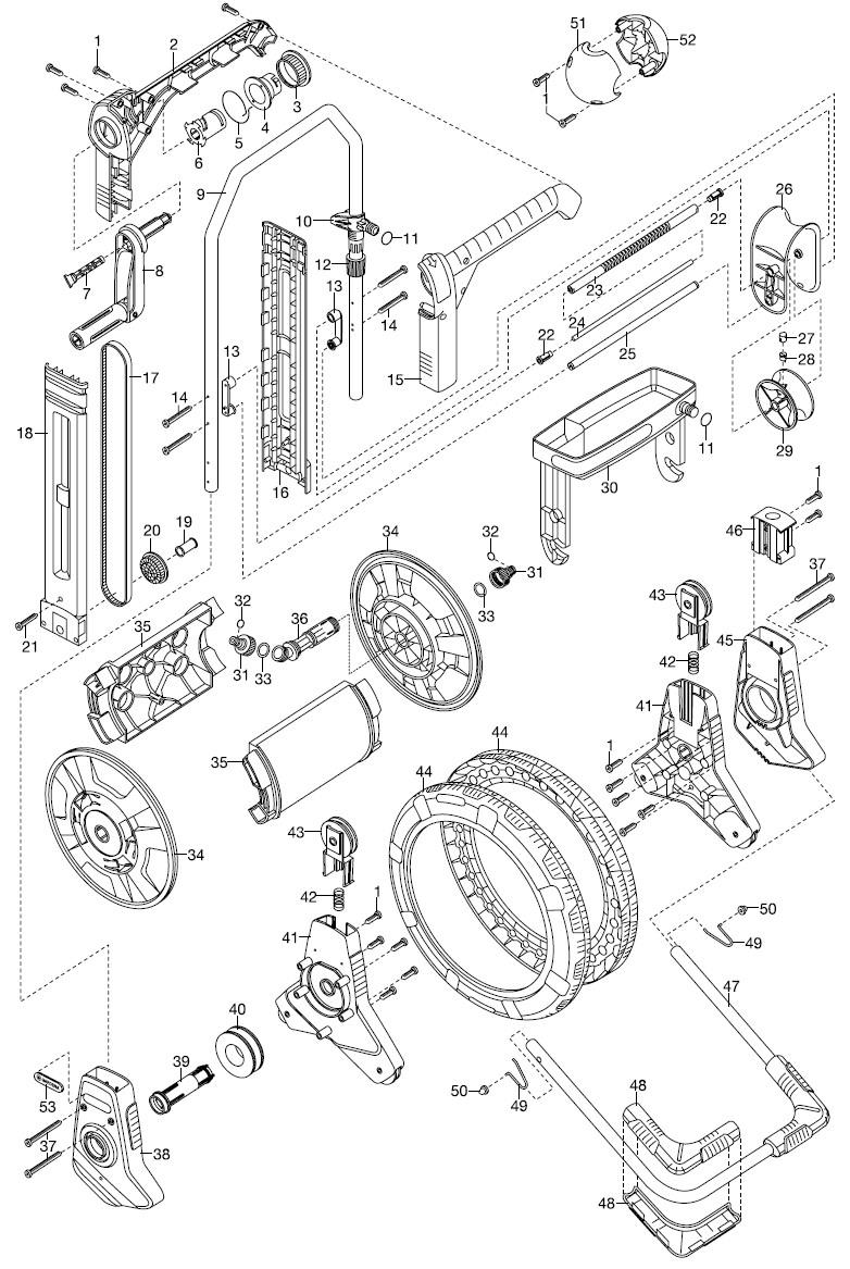 gardena ersatzteile comfort schlauchwagen easyroll plus 2684 ersatzteil fee. Black Bedroom Furniture Sets. Home Design Ideas
